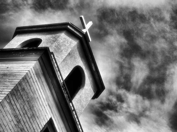 Church and sky using infra red