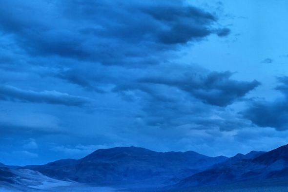 Storms brewing over Death Valley