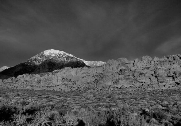 Waking Mt. Tom--shot in monotone